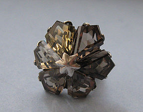Smoky Quartz Ring, c. 1965