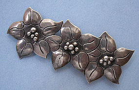 Sterling Poinsettia Pin