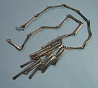Mexican Sterling Modernist Necklace