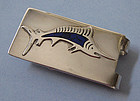 Mexican Sterling and Enamel Money Clip