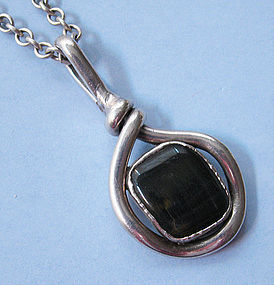 Danish Silverplated Pendant and Chain