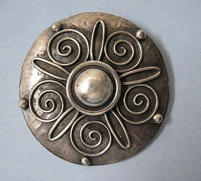 European Silver Disc Pin