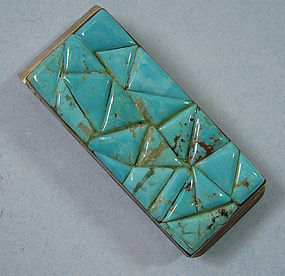 Ceramic and Silverplated Money Clip, c. 1970
