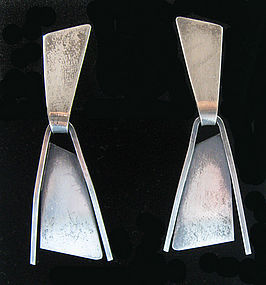 Paul Lobel Sterling Drop Earrings