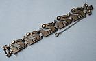 Coro Bird Bracelet, Peruvian Style, c. 1955