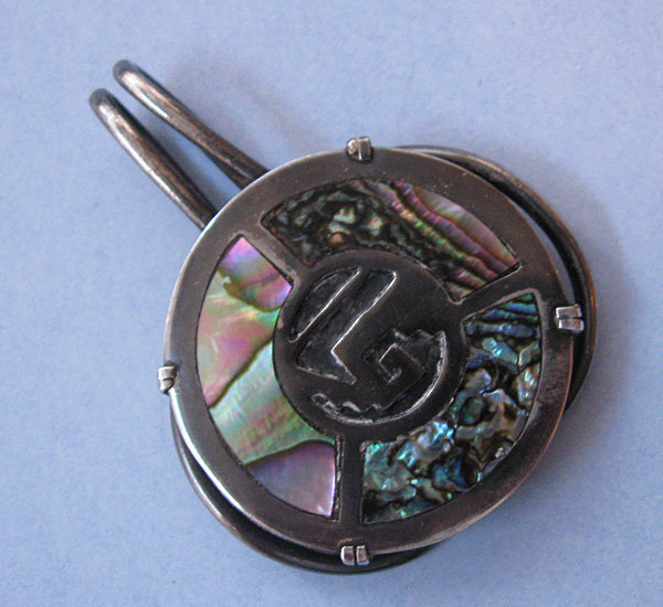 Sterling and Abalone Money Clip, c. 1955