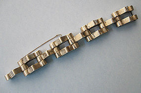 Mexican Sterling Industrial-Style Bracelet, c. 1950
