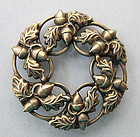 Danecraft Sterling Acorn Pin, c. 1960
