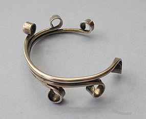 Sterling Cuff, Curled Design, c. 1960
