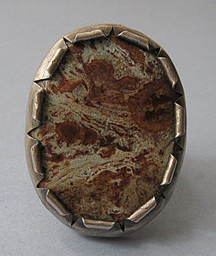 Handmade Sterling and Turquoise Ring, c. 1975
