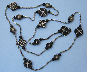 Chain Necklace with Primitive Ornaments