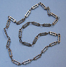 Silver Necklace of Openwork Plaques