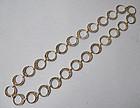 Silver Hoop Necklace, c. 1960