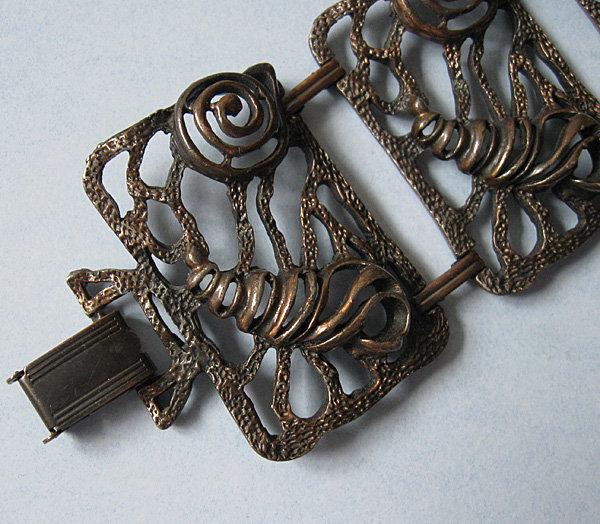 Copper Openwork bracelet, c. 1980