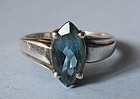 Sterling and Blue Topaz Ring, c. 1955