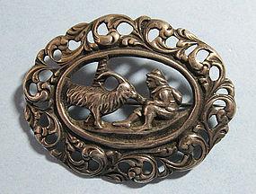 Norwegian Silver Openwork Pin, c. 1950