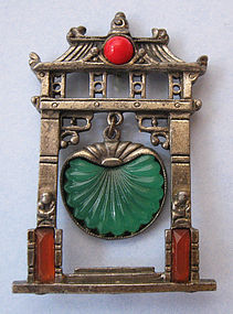 Art Deco �Pagoda� Pin, c. 1925
