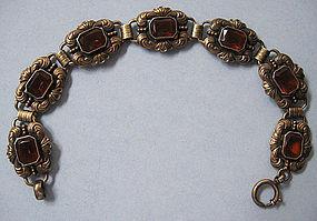 European Gilded Silver Bracelet, c. 1950