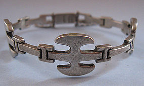 Mexican Sterling Hinged Bracelet, Post-1980