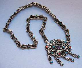 Mexican Multi-Stone Necklace, Post-1980
