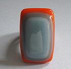 Melvin Roman Glass and Sterling Ring