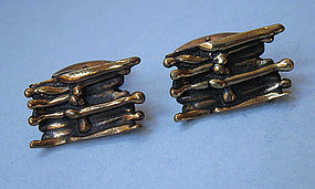 Finnish Bronze Cuff Links