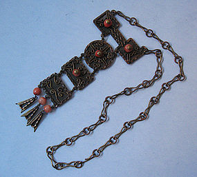 Mexican Copper Pendant Necklace