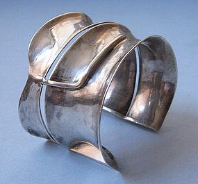 Sterling Handmade Wide Cuff