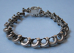 Sterling Machine-Look Bracelet