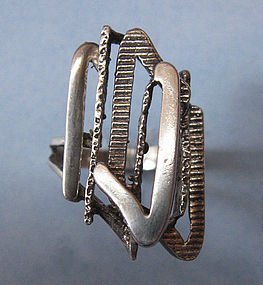 Silver Ring, Abstract Design