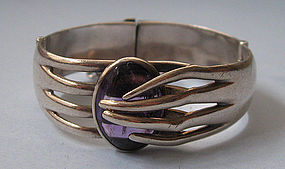 Sigi Sterling and Amethyst Bracelet