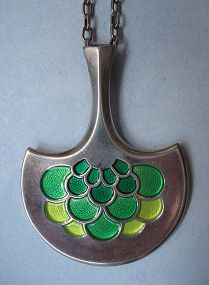 David-Andersen Sterling and Enamel Pendant