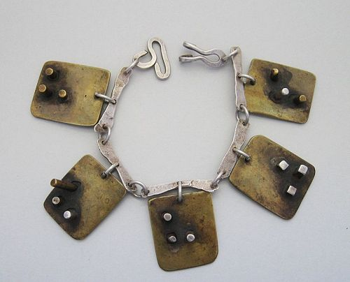 Handmade Mixed Metal Bracelet