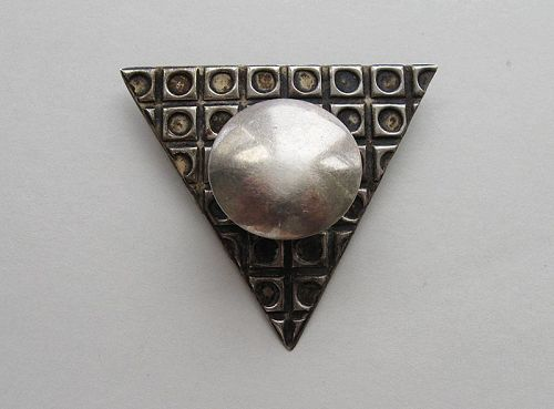 Silver Geometric Pin