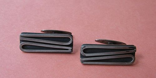 ORNO Silver Modernist Cuff Links, Poland