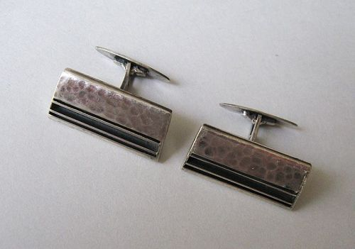 Polish Silver Cuff Links, ORNO