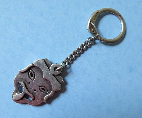 Silver Mask Key Fob, possibly Mexican
