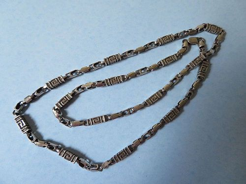 Sterling Geometric Chain Necklace