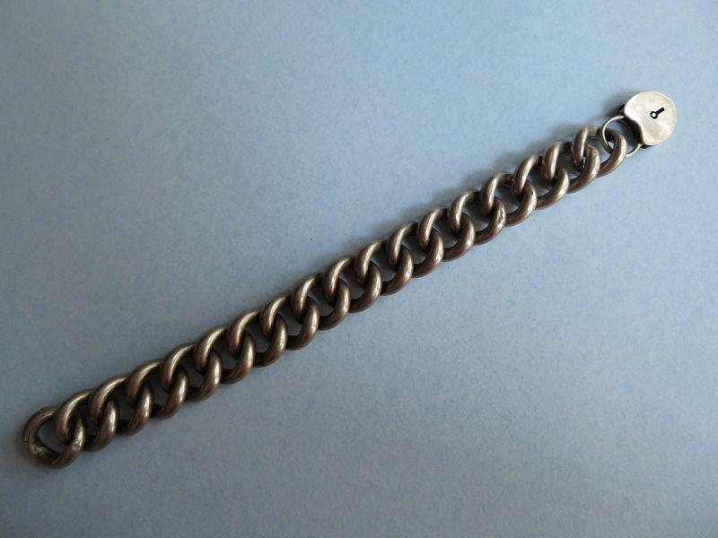Late 19th Century Large Sterling Bracelet