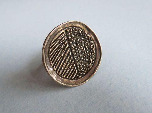 Handmade Sterling Disk Ring