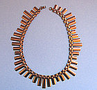 Copper Flat-Link Necklace by Renoir, c. 1960