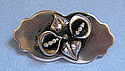 Sterling Silver Handmade Pin, c. 1950