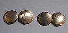Pair of Engraved Two-Color Gold Cuff Links, c. 1920