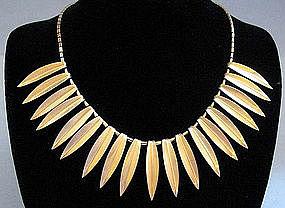 Leaf Necklace by Krementz