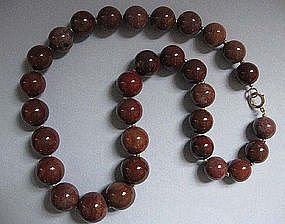 Necklace of Large Agate Beads