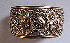 Sterling Silver Decorative Cuff by Kirk, c. 1960