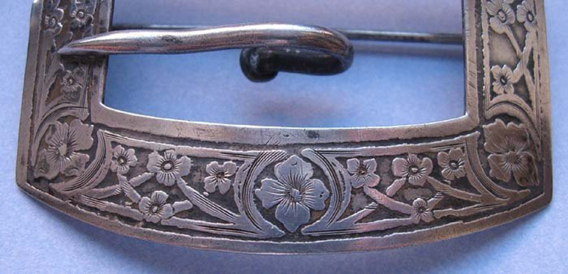 American Sterling Silver Buckle Brooch, c. 1910