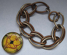 German Metal Link Bracelet, c. 1955