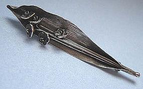 European Silver Flower Pin