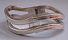 Mexican Sterling Hinged Bangle, c. 1950